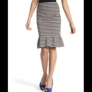WHBM striped skirt size 6